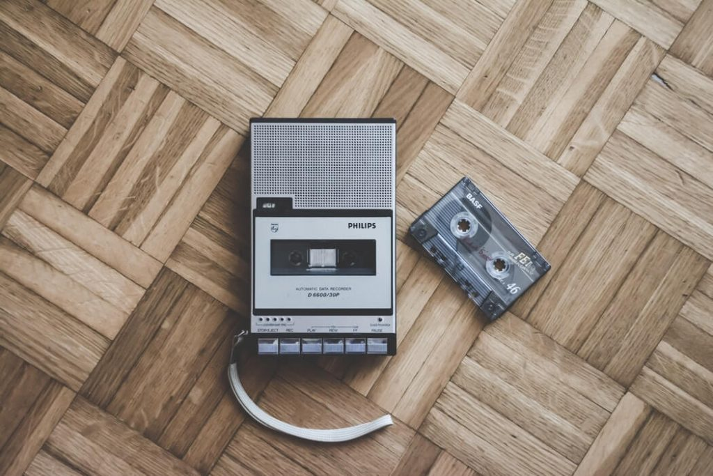 A sprinkle-of-nostalgia: an audio cassette and walkman