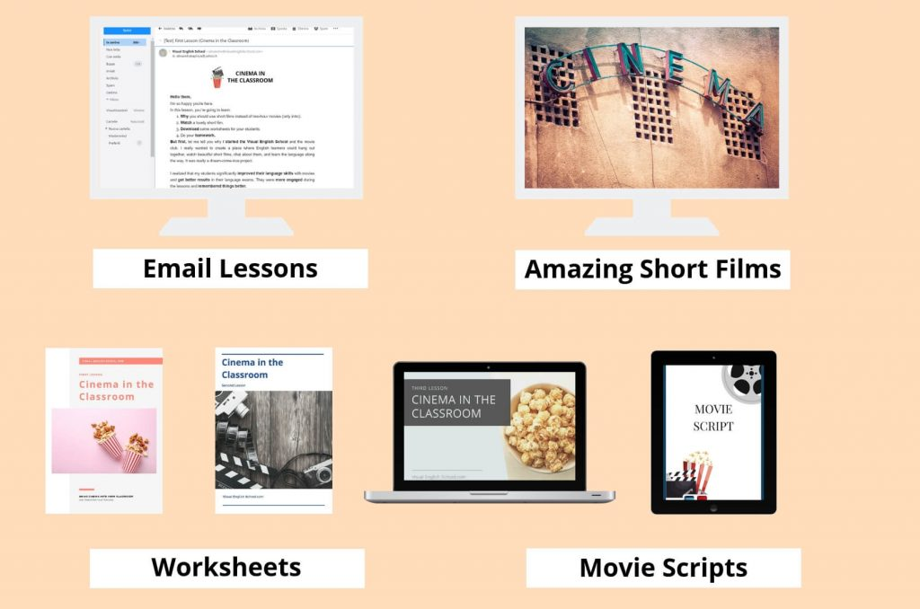The content of the Cinema in the classroom course.