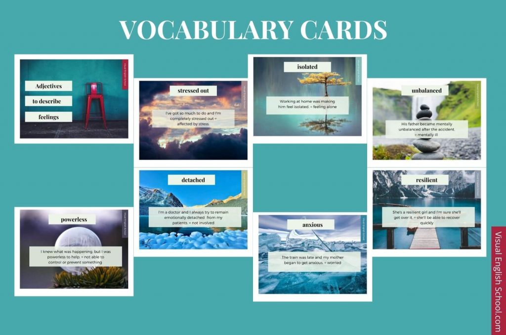 A series of vocabulary cards helping you learn English through cinema.