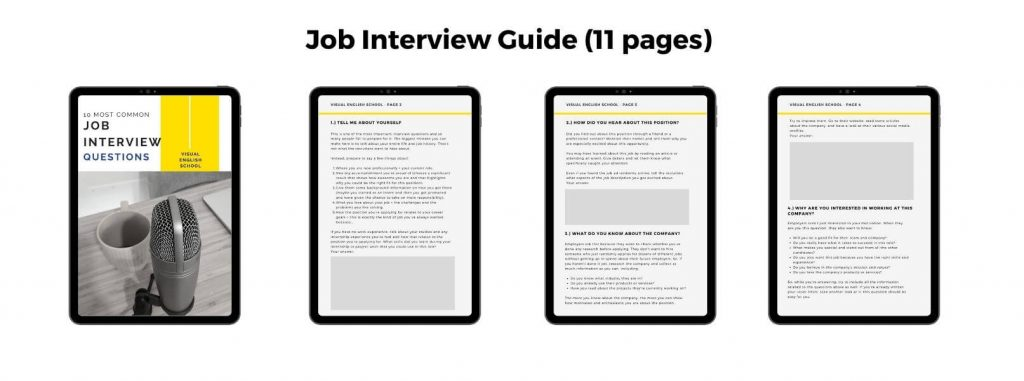 It's a free Job Interview guide for non-English speaking job seekers.