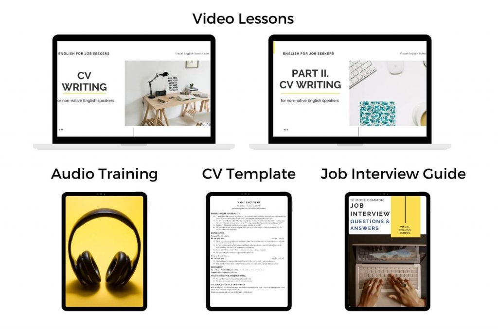 This is the overview of the course English for Job Seekers.